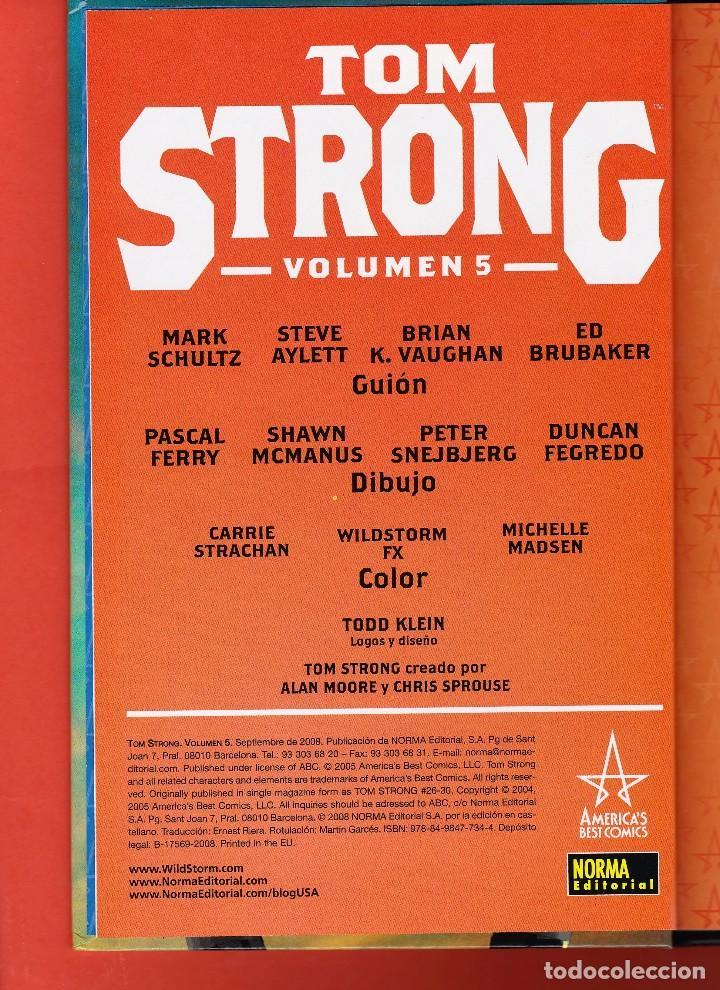 Cómics: Alan Moore. Tom Strong. Volumen nº 5 . Impecable y descatalogado. Tapa dura. - Foto 3 - 92244685