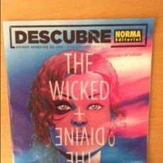 Cómics: DESCUBRE NORMA EDITORIAL. PRIMER SEMESTRE 2017. THE WICKED + THE DIVINE. Lote 92424025