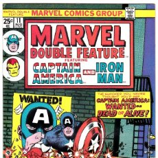 Cómics: MARVEL DOUBLE FEATURE # 11 ( 1975 ) CAPTAIN AMERICA AND IRON MAN . Lote 94092845