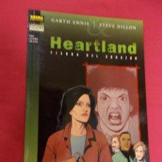 Cómics: HEARTLAND. TIERRA DEL CORAZÓN. GARTH ENNIS. NORMA EDITORIAL.. Lote 95086263