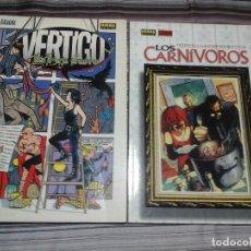 Cómics: LOS CARNÍVOROS Y VÉRTIGO AL FILO DEL INVIERNO 2. NORMA EDITORIAL, 1997 Y 1999.. Lote 95385255