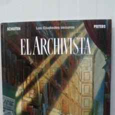 Cómics: LAS CIUDADES OSCURAS EL ARCHIVISTA ... SCHUITTEN .PEETERS (1991 PRIMERA EDICION .NORMA EDITORIAL). Lote 95420756