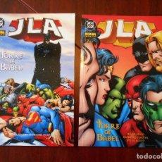 Cómics: JLA - TORRE DE BABEL - Nº 1 Y 2 - COMPLETA - NORMA EDITORIAL - DC (W). Lote 95697595