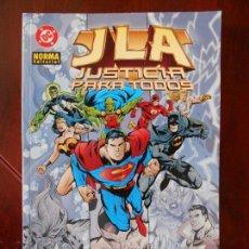 Cómics: JLA - JUSTICIA PARA TODOS - NORMA EDITORIAL - GRANT MORRISON - DC (A1). Lote 95759387