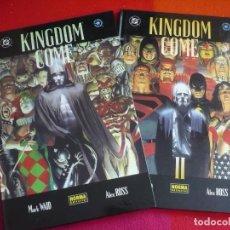 Cómics: KINGDOM COME TOMOS UNO Y DOS ( MARK WAID ALEX ROSS ) ¡MUY BUEN ESTADO! NORMA TAPA DURA I Y II. Lote 97673043