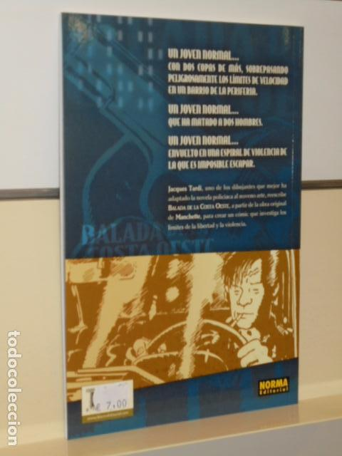 Cómics: BALADA DE LA COSTA OESTE COLECCION COMIC NOIR Nº 8 TARDI - NORMA - - Foto 2 - 97804487