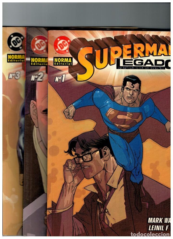 SUPERMAN -LEGADO- COMPLETA 3 EJEMPLARES 1,2 Y 3. NUEVOS (Tebeos y Comics - Norma - Comic USA)