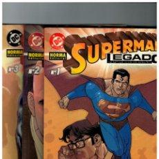 Cómics: SUPERMAN -LEGADO- COMPLETA 3 EJEMPLARES 1,2 Y 3. NUEVOS. Lote 100103839