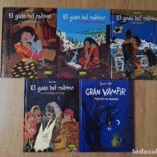 Cómics: EL GATO DEL RABINO - 1 AL 4 + GRAN VAMPIR PENSANDO EN HUMANAS - JOANN SFAR - NORMA ED. - SINS ENTIDO. Lote 101303563