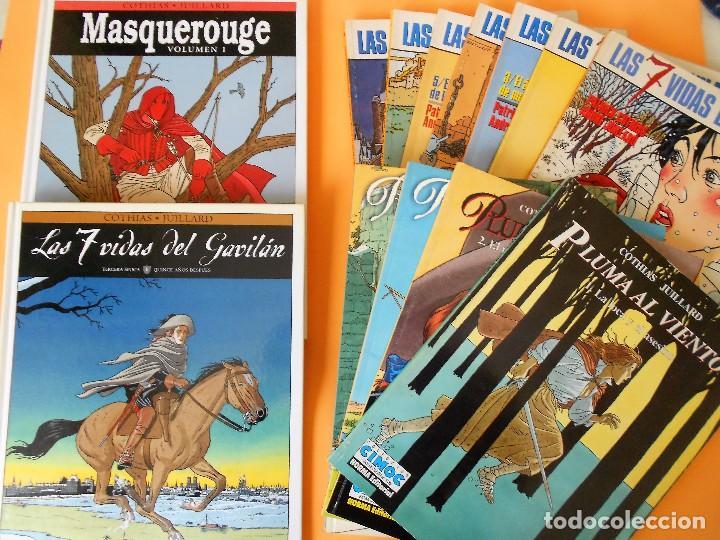 LAS 7 VIDAS DEL GAVILÁN. PLUMA AL VIENTO. MASQUEROUGE. LOTE COMPLETO. UNA GOZADA. (Tebeos y Comics - Norma - Comic Europeo)
