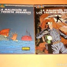 Cómics: BLAKE Y MORTIMER. LA MALDICIÓN DE LOS TREINTA DENARIOS. TOMOS 1 Y 2. IMPECABLES.. Lote 101358487