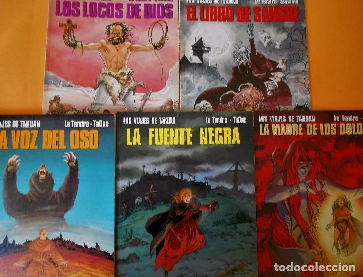 LOS VIAJES DE TAKUAN. COMPLETA . CINCO VOLÚMENES RUSTICA. MUY BUEN ESTADO. (Tebeos y Comics - Norma - Comic Europeo)