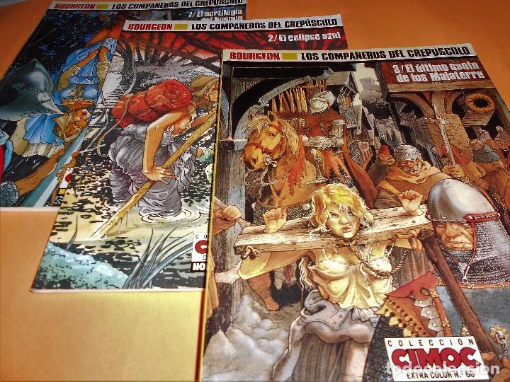 LOS COMPAÑEROS DEL CREPÚSCULO. BOURGEON. COMPLETA 3 VOLÚMENES. BUEN ESTADO (Tebeos y Comics - Norma - Comic Europeo)