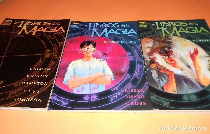 NEIL GAIMAN. LOS LIBROS DE LA MAGIA. COMPLETA. TRES TOMOS RUSTICA EN MUY BUEN ESTADO. (Tebeos y Comics - Norma - Comic USA)