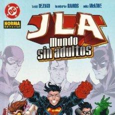 Cómics: JLA: MUNDO SIN ADULTOS (1 TOMO) NORMA EDITORIAL. Lote 104617927
