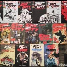 Cómics: SIN CITY DE FRANK MILLER. LOTE DE 15 COMICS. 1ª EDICION. NORMA EDITORIAL 1994-2001. Lote 104984867