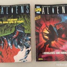 Cómics: SUPER ALIENS Nº 1 Y Nº 2. NORMA EDITORIAL 1991. INCLUYE LOS NºS 1 AL 10 DE LA SERIE NOSTROMO. Lote 105707907