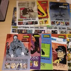 Cómics: 14 FOLLETOS BOLETIN NOVEDADES NORMA EDITORIAL - SEPTIEMBRE 2009 A NOVIEMBRE 2010 (FALTA JULIO 2010). Lote 107762831
