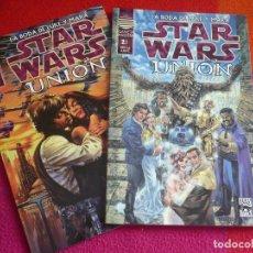 Cómics: STAR WARS UNION LA BODA DE LUKE Y MARA 1 Y 2 ( STACKPOLE ) ¡COMPLETA! ¡MUY BUEN ESTADO! NORMA. Lote 108005671