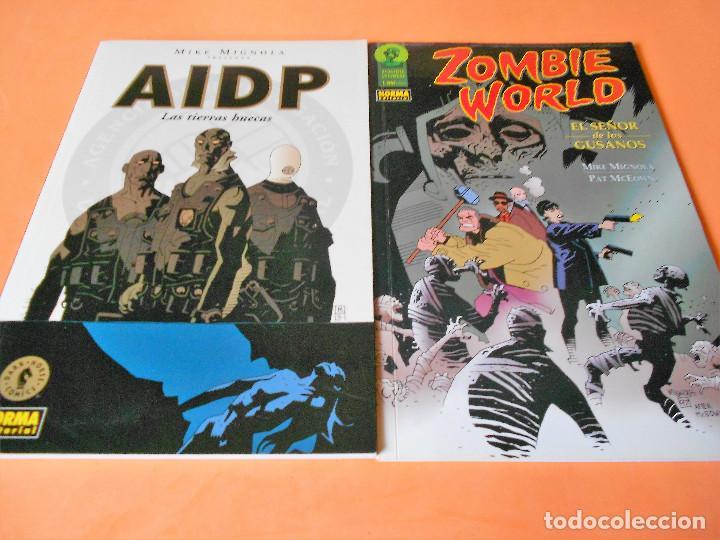 AIDP & ZOMBIE WORLD. MIKE MIGNOLA Y OTROS. DOS VOLUMENES IMPECABLES . RUSTICA. (Tebeos y Comics - Norma - Comic USA)
