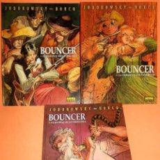 Cómics: BOUNCER. JODOROWSKY & BOUCQ. 1,2 Y 3. ESTADO COMO NUEVO.. Lote 110450751