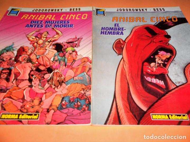 ANIBAL CINCO. JODOROWSKY & BESS. DOS TOMOS EN BUEN ESTADO. (Tebeos y Comics - Norma - Comic Europeo)