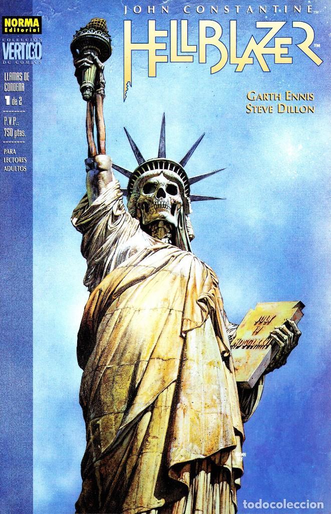 JOHN CONSTANTINE HELLBLAZER. CONFESION Y LLAMAS DE CONDENA 1 Y 2. COMPLETAS. NORMA (Tebeos y Comics - Norma - Comic USA)