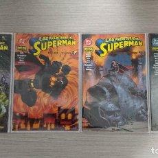 Cómics: LAS AVENTURAS DE SUPERMAN MUNDOS EN GUERRA COMPLETA TOMOS 1+2+3+4 RÚSTICA (NORMA). Lote 111040659