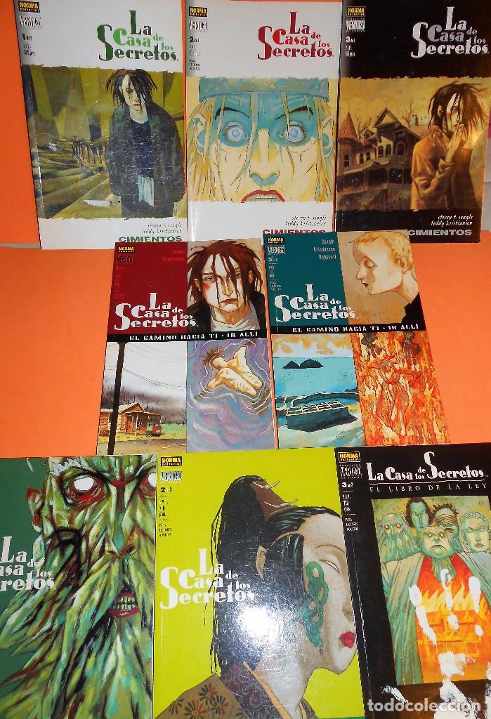LA CASA DE LOS SECRETOS. COMPLETA. OCHO TOMOS RÚSTICA COMO NUEVOS. (Tebeos y Comics - Norma - Comic USA)