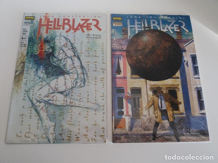 HELLBLAZER EN LA LINEA DE FUEGO 1 Y 2 COMPLETA - JENKINS / PHILLIPS - NORMA VERTIGO DC (Tebeos y Comics - Norma - Comic USA)