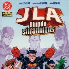 Comics: JLA. LIGA DE LA JUSTICIA. UN MUNDO SIN ADULTOS. NORMA. 100 PAGINAS. RUSTICA. Lote 140922000