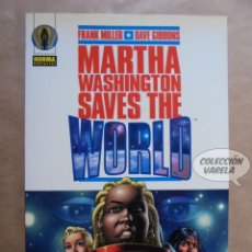 Cómics: MARTHA WASHINGTON SAVES THE WORLD - FRANK MILLER Y DAVE GIBBONS - NORMA - JMV. Lote 112551739