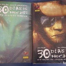 Cómics: LOTE 30 DÍAS DE OSCURIDAD: HISTORIAS DE CHUPASANGRE Y MAS ALLA DE BARROW - NORMA. Lote 115161183