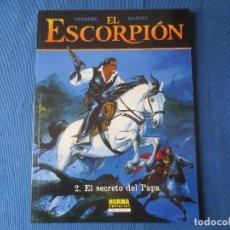 Cómics: EL ESCORPIÓN N.º 2 EL SECRETO DEL PAPA DE DESBERG & MARINI - COLECCIÓN CIMOC EXTRA COLOR N.º 190. Lote 115554579