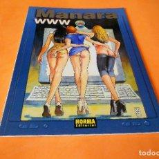 Cómics: MANARA COLECCION COLOR Nº 12 - WWW - NORMA . 1999. RÚSTICA. BUEN ESTADO.. Lote 116593431
