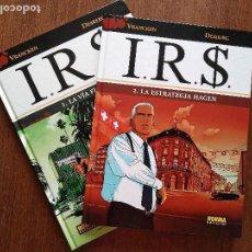 Cómics: IR$ 2 TOMOS LA VIA FISCAL Y LA ESTRATEGIA HAGEN IRS. Lote 117619343