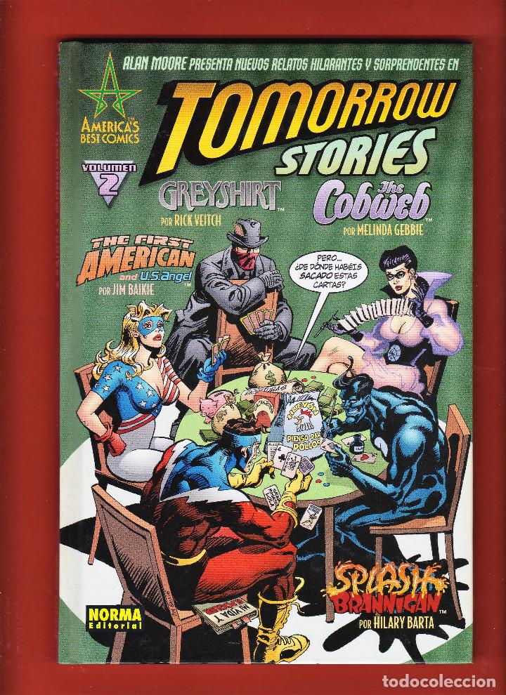 ALAN MOORE. TOMORROW STORIES .VOLUMEN 2. TAPA DURA. MUY BUEN ESTADO. (Tebeos y Comics - Norma - Comic USA)