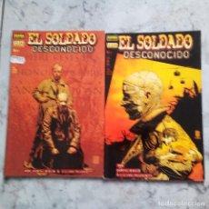Cómics: EL SOLDADO DESCONOCIDO 1 AND 2- GARTH ENNIS AND KILIAN PLUNKETT. NORMA. COMO NUEVOS.. Lote 117996683