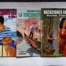 Cómics: VACACIONES FATALES. VITTORIO GIARDINO. LOTE DE 3 CÓMICS NORMA EDITORIAL. ESPAÑA. CIMOC.. Lote 118080783
