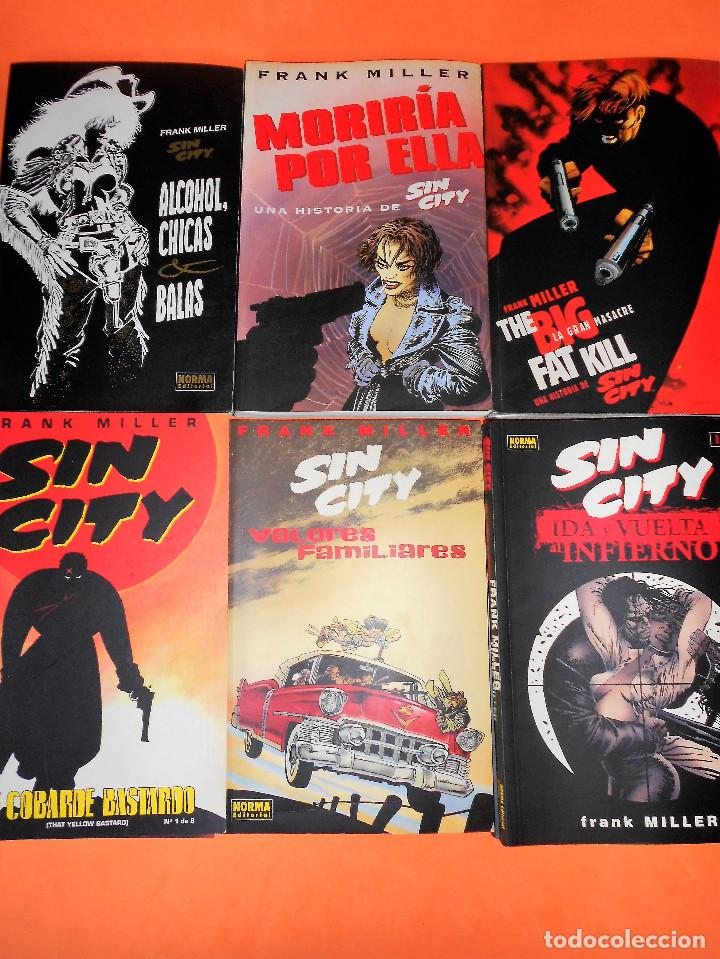 SIN CITY. FRANK MILLER. LOTE DE 6 HISTORIAS EN 13 COMICS. ESTADO NORMAL. (Tebeos y Comics - Norma - Comic USA)