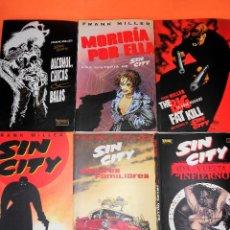 Cómics: SIN CITY. FRANK MILLER. LOTE DE 6 HISTORIAS EN 13 COMICS. ESTADO NORMAL.. Lote 118536551
