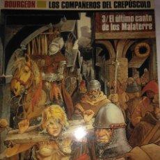 Cómics: EL ULTIMO CANTO DE LOS MALATERRE ( LOS COMPAÑEROS DEL CREPUSCULO 3 ) BOURGEON ( CIMOC EXTRA Nº66). Lote 121377751