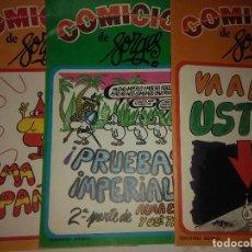 Cómics: ALMA ESPAÑOLA Y OLE TACATA , COMICICLO DE FORGES ( 3 VOL ) ( EDICIONES SEDMAY ). Lote 121392427