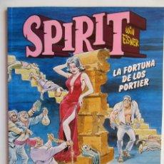 Cómics: SPIRIT LA FORTUNA DE LOS PORTIER - WILL EISNER - NORMA - TAPA BLANDA - MUY BIEN. Lote 121654123