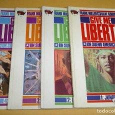 Cómics: GIVE ME LIBERTY, COLECCION COMPLETA, FRANK MILLER, DAVE GIBBONS, ED. NORMA, AÑO 1990, ERCOM. Lote 123492779