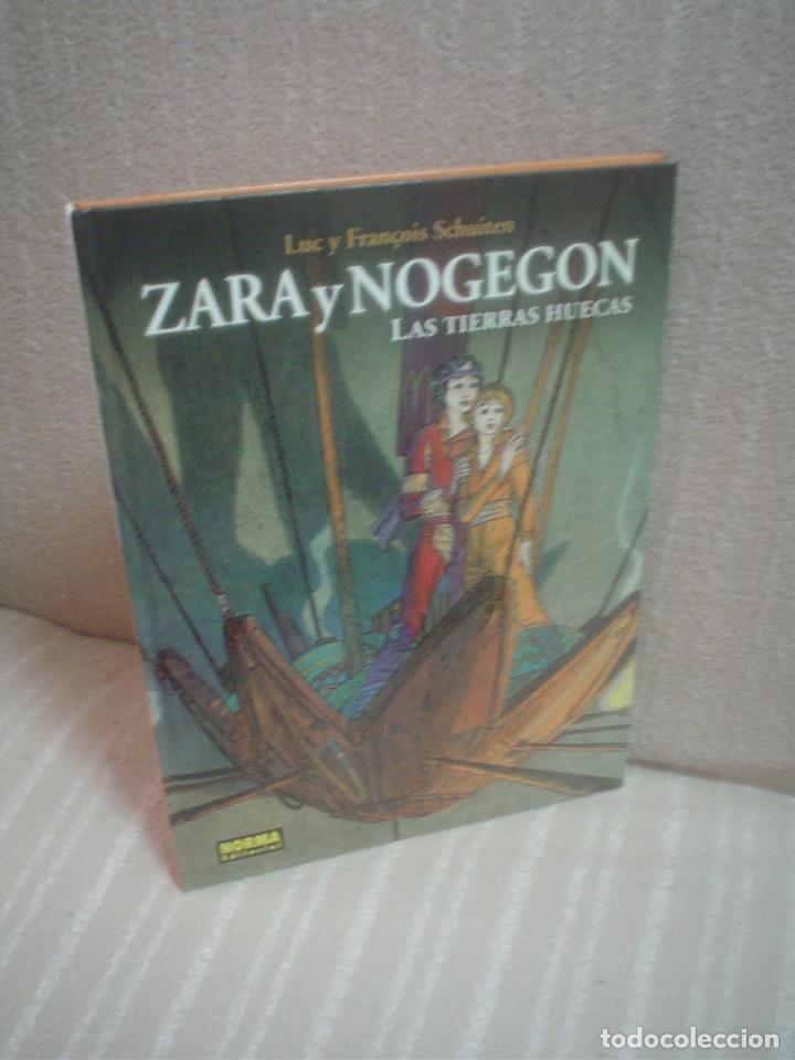 ZARA Y NOGEGON: LAS TIERRAS HUECAS - LUC Y FRANÇOIS SCHUITEN - (LEER DESCRIPCIÓN) (Tebeos y Comics - Norma - Comic Europeo)