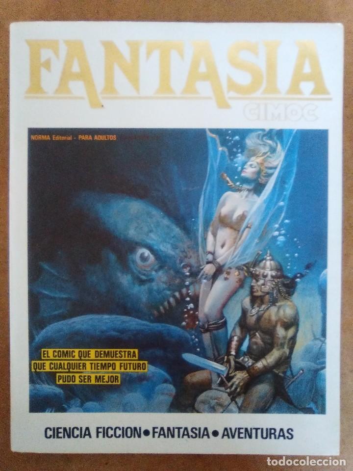 FANTASIA CIMOC Nº 4 (RETAPADO CON LOS NUMEROS 15, 16 Y 18) NORMA - BUEN ESTADO - OFM15 (Tebeos y Comics - Norma - Cimoc)