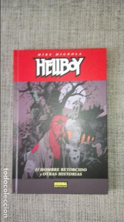 HELLBOY EL HOMBRE RETORCIDO Y OTRAS HISTORIAS TAPA DURA NORMA EDITORIAL (Tebeos y Comics - Norma - Comic USA)
