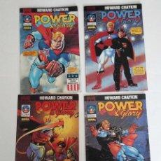 Cómics: POWER & GLORY, DE HOWARD CHAYKIN. MINISERIE COMPLETA DE 4 NÚMEROS. NORMA, OCASIÓN.. Lote 127863519
