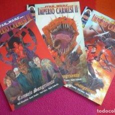 Cómics: STAR WARS IMPERIO CARMESI II CONSEJO SANGRIENTO NºS 1 AL 3 ( PAUL GULACY ) ¡COMPLETA! COMO NUEVOS. Lote 129574499
